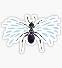 Weird Abstract Flying Ant Sticker