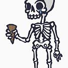 Skeleton Ice Cream  by obinsun