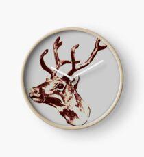 Reindeer  Clock