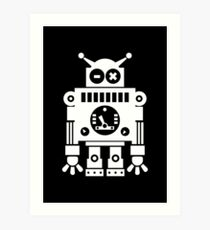 Cute Robot 6 White Art Print