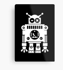 Cute Robot 6 White Metal Print