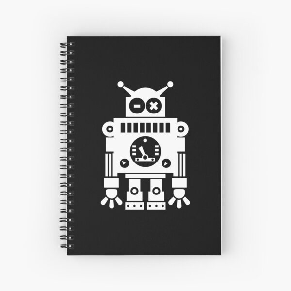 Cute Robot 6 White Cuaderno de espiral