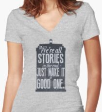 Stories Women's Fitted V-Neck T-Shirt