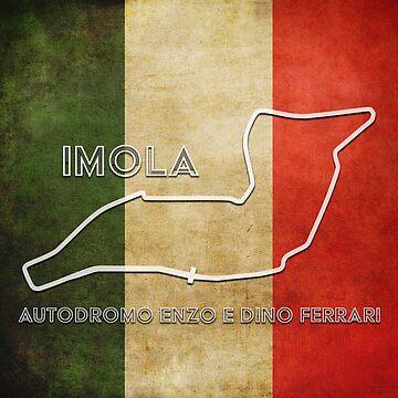 Imola Grand Prix Circuit on Italian Flag by FormulaFans