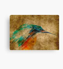 Kingfisher acrylics on paper textures Canvas Print