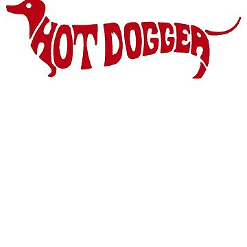 Hot Dog Funny 70s shirt - Red by ChevCholios