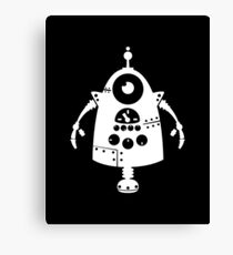 Cute Robot 5 White Canvas Print