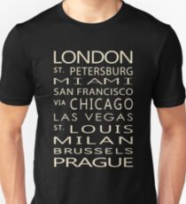 Classic Cities Old Bus Sign T-Shirt