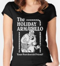Friends - The Holiday Armadillo T shirt Women's Fitted Scoop T-Shirt