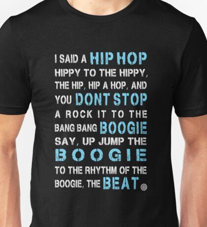 Sugar Hill Gang Rapper's Delight Hip Hop Lyrics Unisex T-Shirt