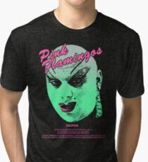 PINK FLAMINGOS Divine Design Tri-blend T-Shirt