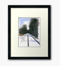County Line Framed Print