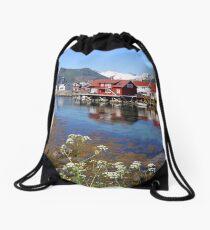 Lofoten Islands Drawstring Bag