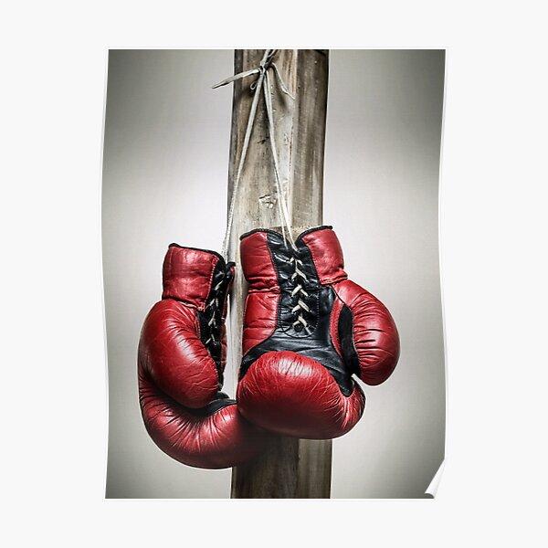Rouge, gants de boxe vintage Poster
