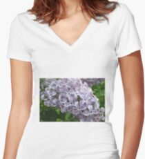 Lilac 9 Women's Fitted V-Neck T-Shirt