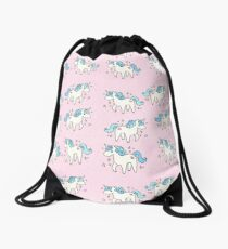 Unicorn Scatter Pattern Drawstring Bag