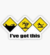 i've got this Funny triathlon gift Sticker