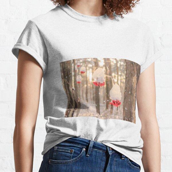Rowan berries in the snow Classic T-Shirt