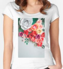Paper flowers Women's Fitted Scoop T-Shirt