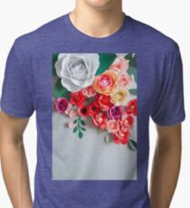 Paper flowers Tri-blend T-Shirt