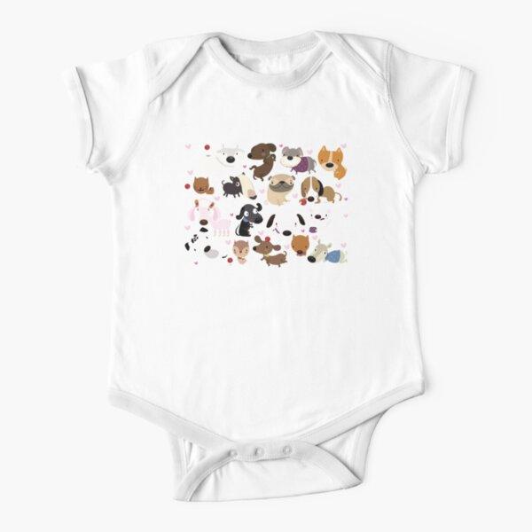 Dog pattern Short Sleeve Baby One-Piece