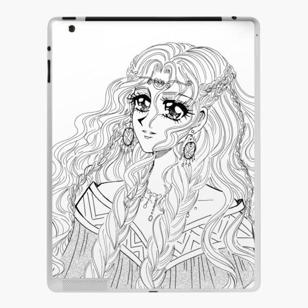 Valkyrie - viking styled manga girl drawing iPad Skin