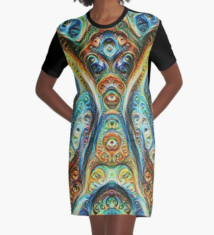 Gothic Style #DeepDream Graphic T-Shirt Dress