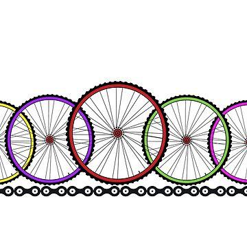 Wheelies Cycling T-shirt by widdershins13