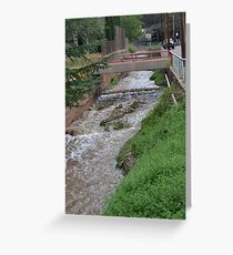 Water Ditch Beside the Tombstone Cyn. Rd. in Bisbee Greeting Card