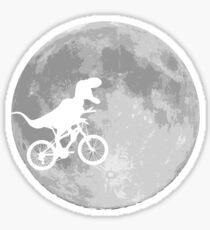 Dinosaur Bike and Moon Sticker