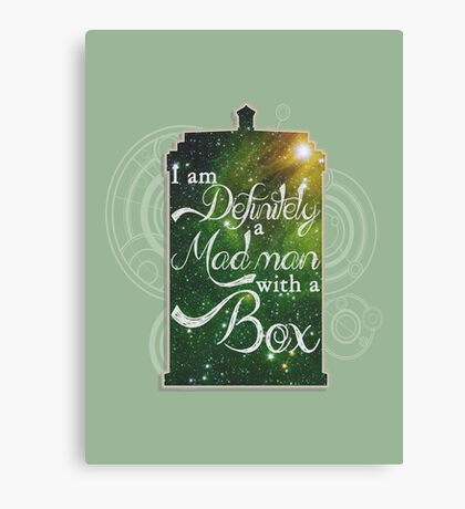 A Mad Man With a Box Canvas Print