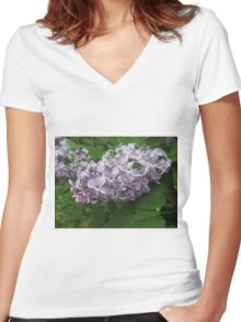 Lilac 4 Women's Fitted V-Neck T-Shirt