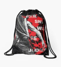 Your Sins Will Be Judged...again Drawstring Bag