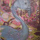 blue flamingo by Lacey  Eidem