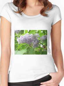 Lilac 3 Women's Fitted Scoop T-Shirt