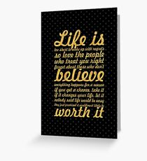 Life is to short... Life Motivational Quote Greeting Card