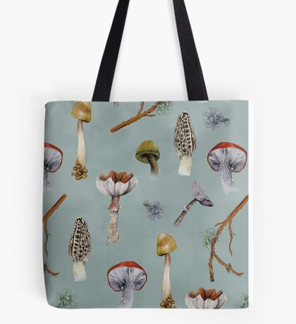 Mushroom Forest Collecting Party Tote Bag