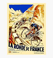 THE TOUR DE FRANCE; Vintage Bike Racing  Photographic Print