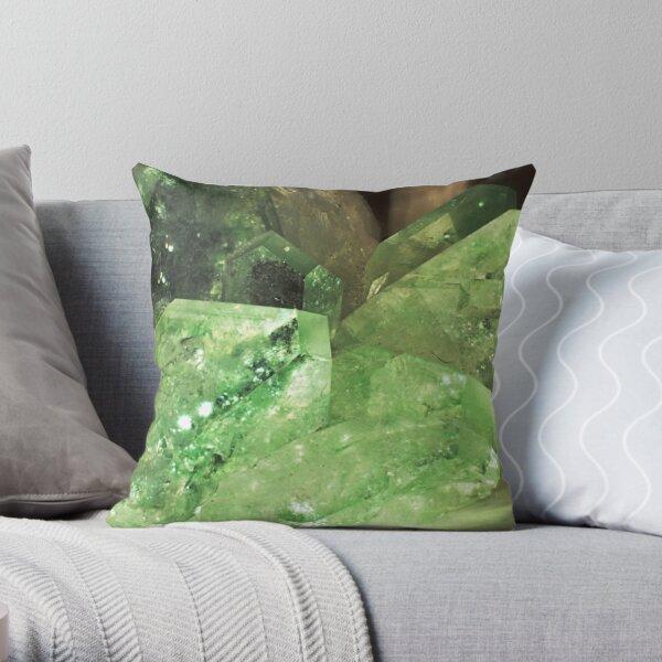 Green Glitter (Apophyllite) Throw Pillow