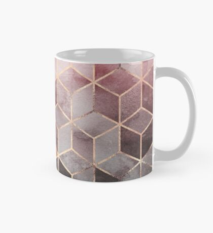 Pink And Grey Gradient Cubes Mug
