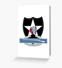 2nd Infantry Combat Infantry Badge (CIB) Greeting Card