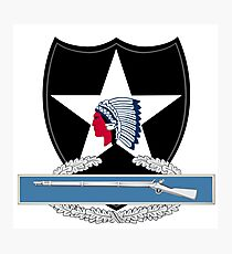 2nd Infantry Combat Infantry Badge (CIB) Photographic Print
