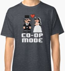 Co-op Mode - Newly Wed Gamer Couple Classic T-Shirt
