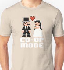 Co-op Mode - Newly Wed Gamer Couple Unisex T-Shirt