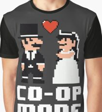 Co-op Mode - Newly Wed Gamer Couple Graphic T-Shirt