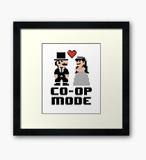Co-op Mode - Newly Wed Gamer Couple Framed Print