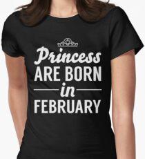 Camiseta entallada para mujer Princesa nació en febrero