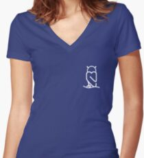 T' Owls Women's Fitted V-Neck T-Shirt