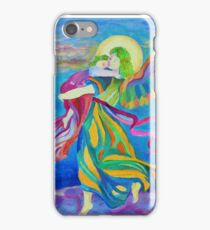 Guardian Angel holding little child iPhone Case/Skin