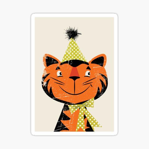 Festive Felid Sticker